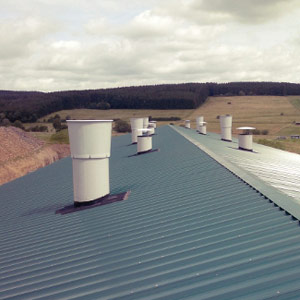 GRP flat rolls for chimneys