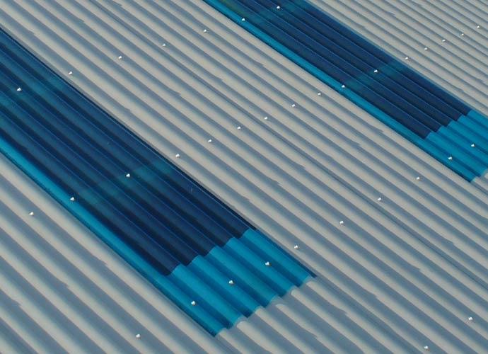 big six clear GRP fibreglass roofing sheets