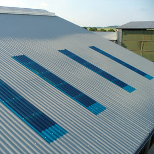 GRP sheets for skylights