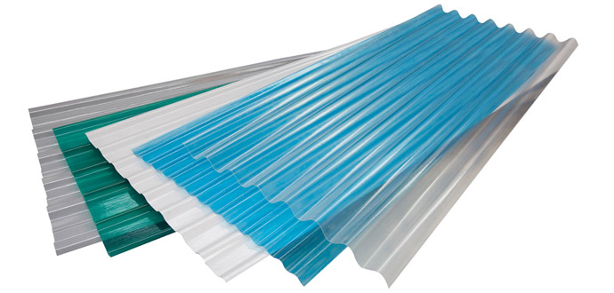 grp straight corrugated sheets